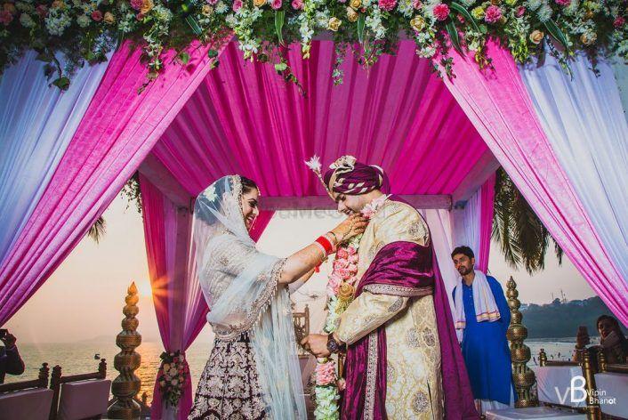 A Beautiful Goa Destination Wedding Against The Backdrop Of A Setting Sun
