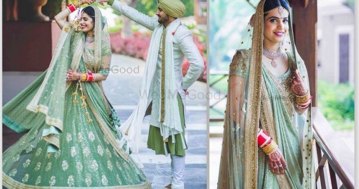 Glam Goa Wedding With A Bride In A Summery Mint Green!