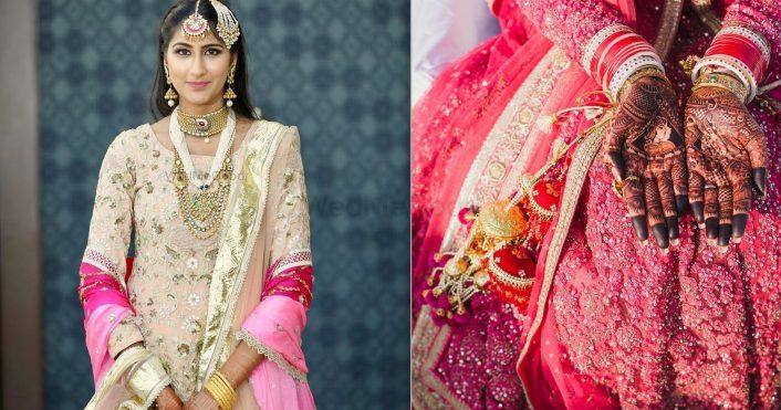 A Simplistic Punjab Wedding With A Bride & Groom In Traditional Colours