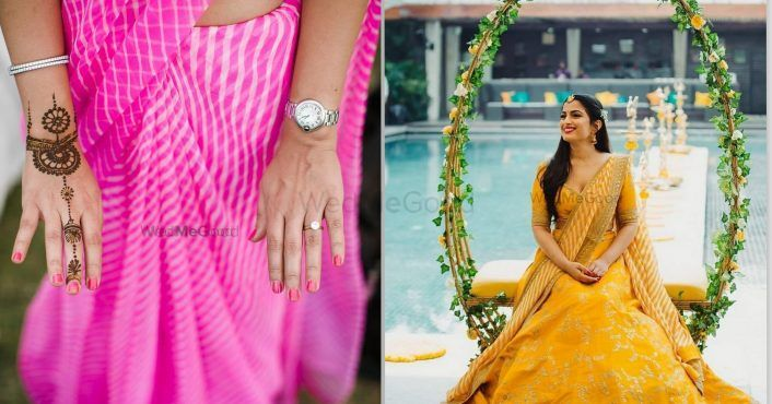Raiding Your Mom's Closet- Here's How You Can Use Her Leheriya Sarees For The Wedding Week!