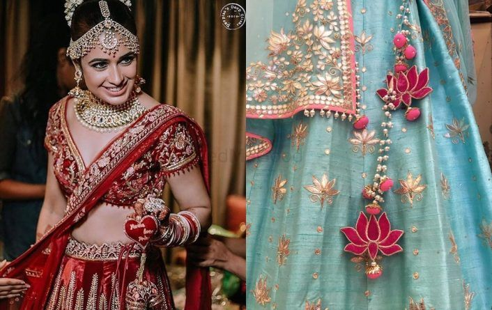 Bookmark These 15+ Pretty Latkan Ideas To Include In Your Bridal Lehengas!