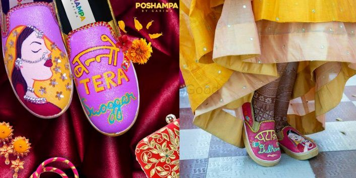 #Trending - We Found These Coolest, Handpainted Bridal Footwear, That You Cannot Miss!