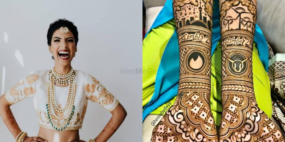 This Bride Got A Tinder Logo In Her Bridal Mehendi & We Think It's LIT!