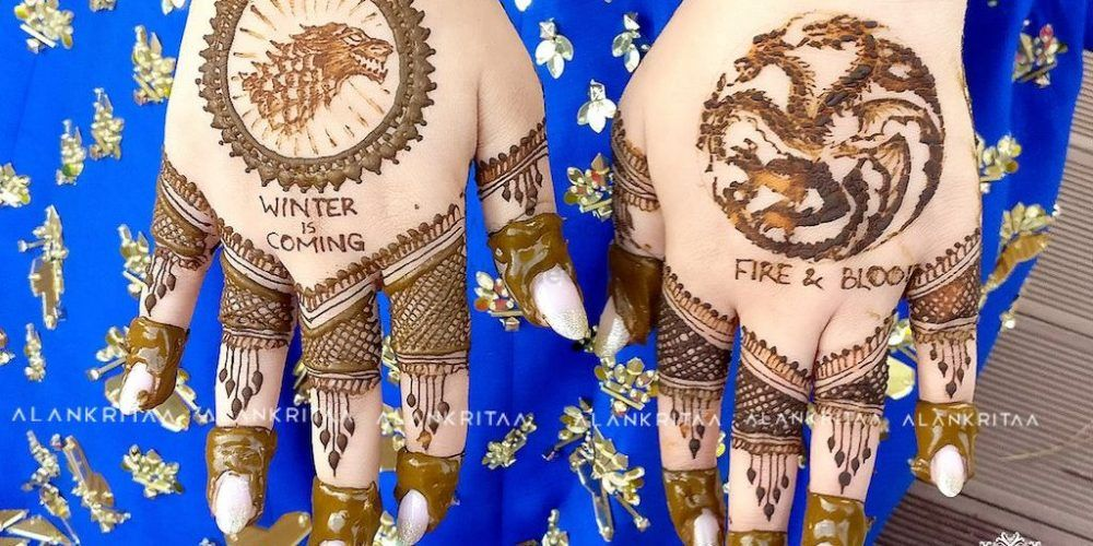 #GoT8: Think You're The Biggest Fan? This Bride Got A Game Of Thrones Themed Mehendi!