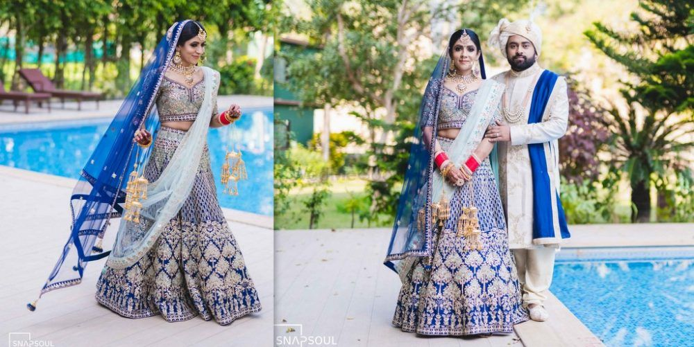 A Dreamy Destination Wedding In Corbett With A Bride In Royal Blue Lehenga