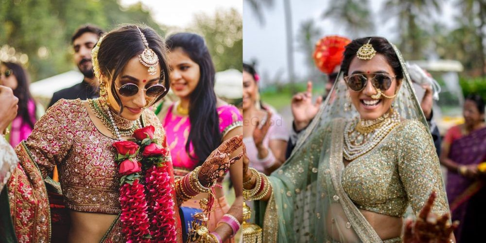 A Quick Guide Wearing Shades With Your Bridal Lehenga: 10 Brides Who Nailed It!