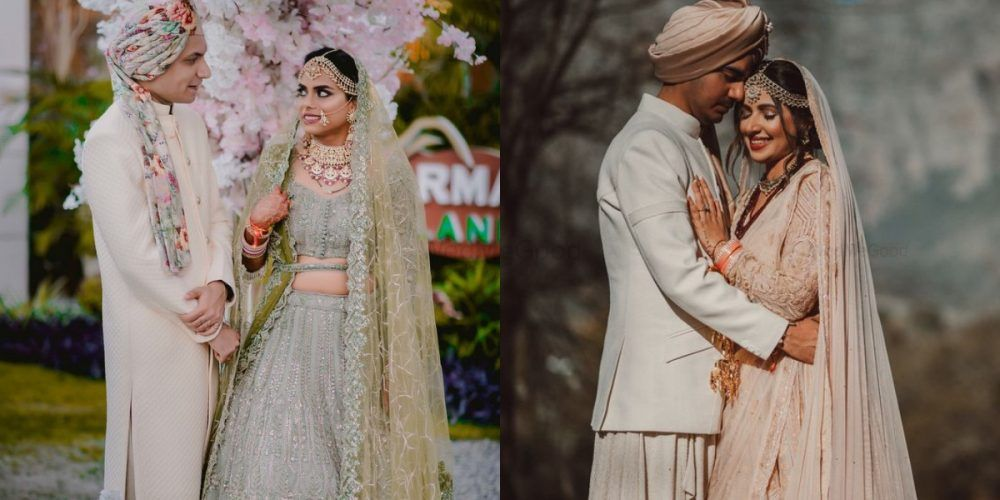 The Prettiest Pastel Bride & Groom Coordinated Looks We Spotted!