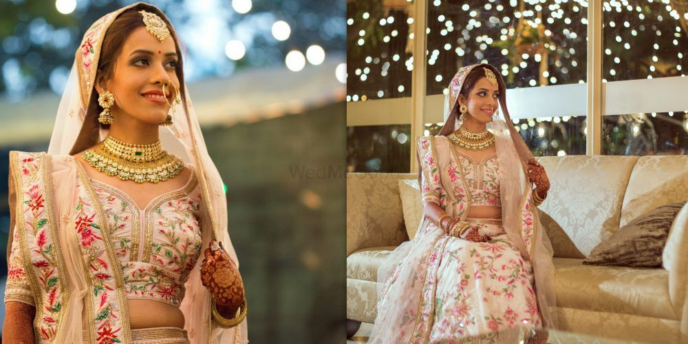 An Elegant Mumbai Wedding With Stunning Decor & A Bride Who Designed Her Own Bridal Lehenga