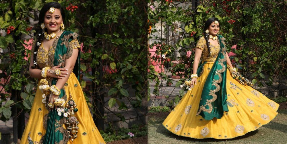 A Fun Punjabi Wedding With A Colourful Mehendi & A Bride In Traditional Red