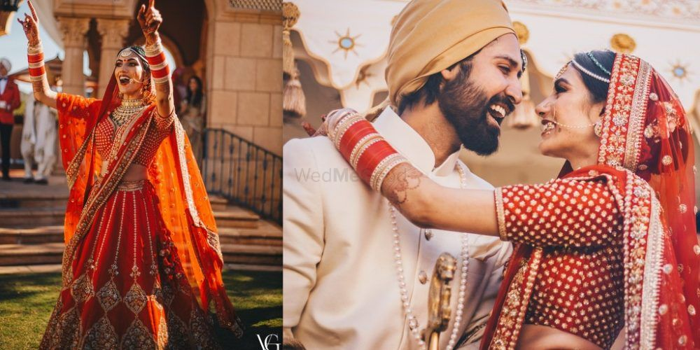 A Stunning Day Wedding With A Bride In A Ravishing Red Lehenga