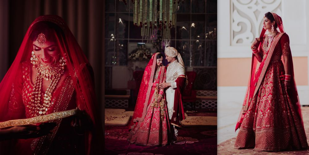A Stunning Delhi Wedding With The Bride In A Ravishing Red Lehenga