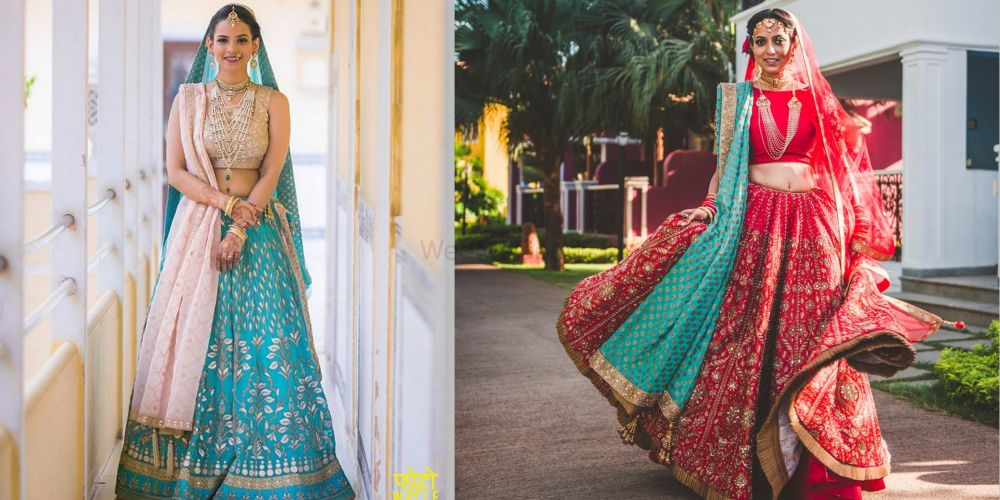 Two Is Better: 10+ Real Brides Who Wore The Most Unique Second Dupatta