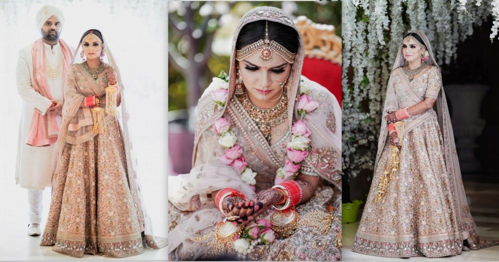 Whimsical Amritsar Wedding With A Bride In A Pretty Pastel-Hued Lehenga!