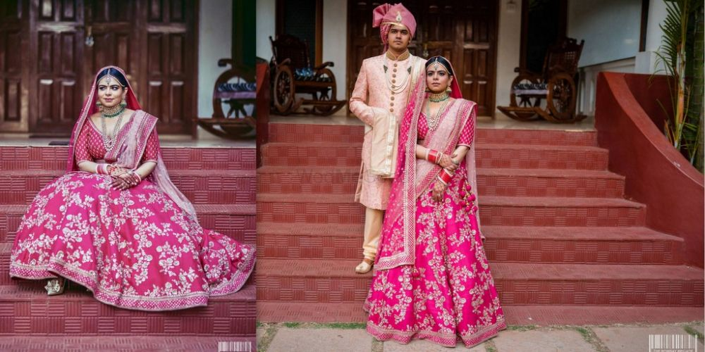 A Gorgeous Seaside Wedding With A Bride In A Pretty Pink Lehenga