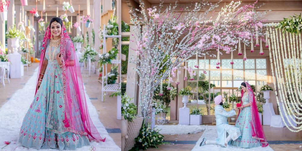 An Elegant Jodhpur Wedding With A Beautiful Bride In Blue And Pink