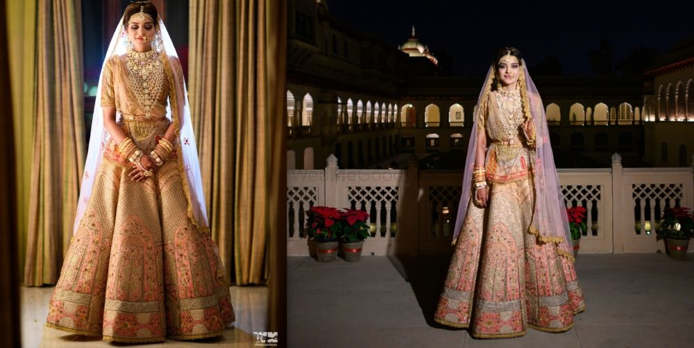A Glam Jaipur Wedding With The Bride In Colourful Outfits