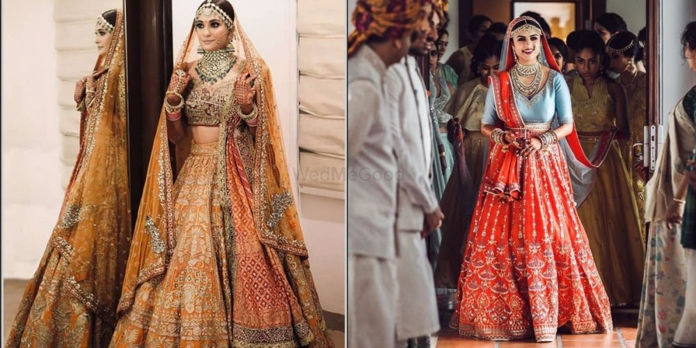 Is Orange The 'IT' Colour Of This Season? We Spotted Too Many Brides Spilling Sass With This Hue!