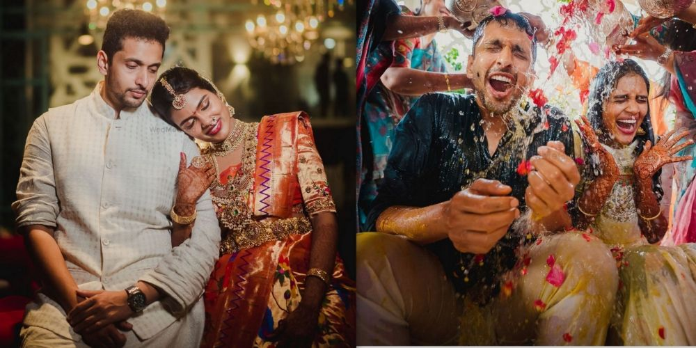 An Interesting Chennai Wedding With A Bride In A Dramatic Trail!