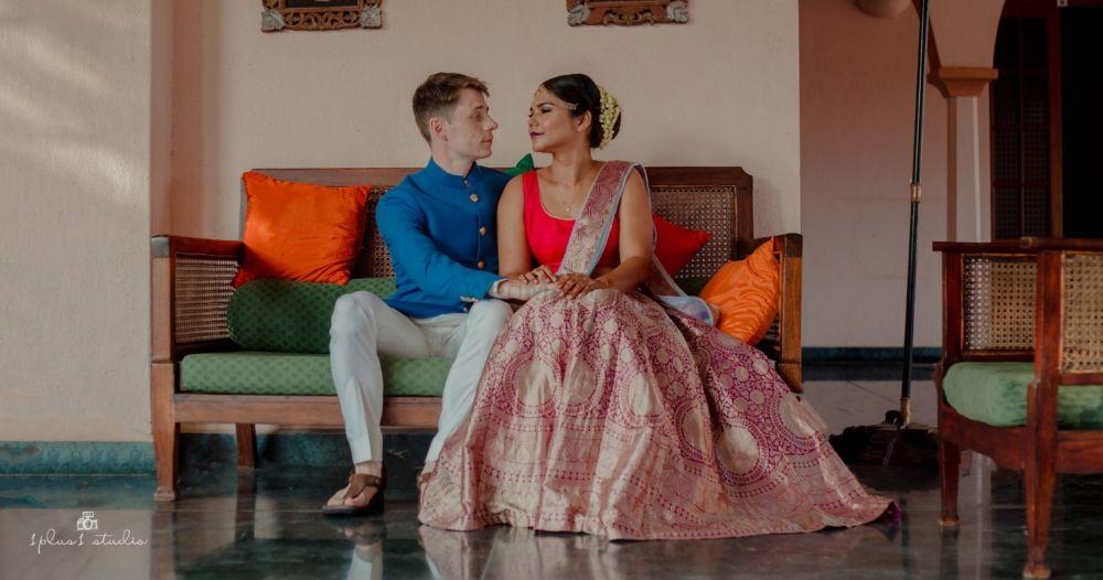 A Laidback Indo-French Wedding With Kitschy Details & Zero Drama!