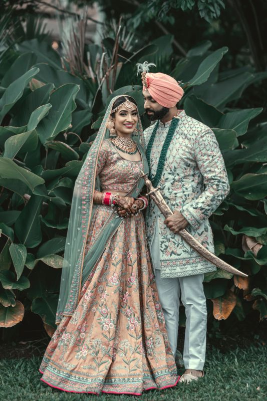 A Stylish Thailand Wedding With The Couple In Coordinated Outfits