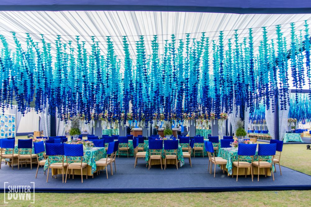 This Wedding Function Had The Most Striking 'Blue Pottery' Theme Decor!