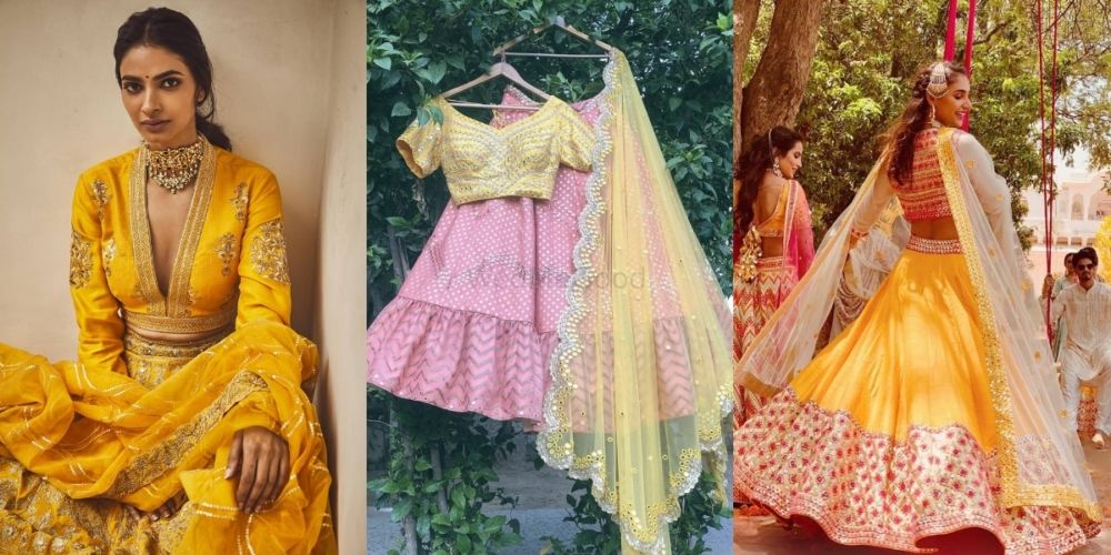 WMG Spotted: Chanderi Lehengas Perfect For Your Haldi! *With Links & Prices!