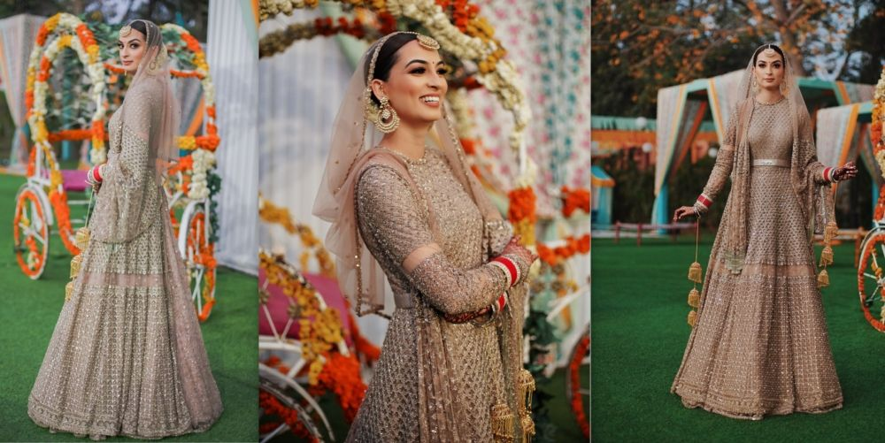 A Gorgeous Delhi Wedding With The Bride In An Offbeat Bridal Anarkali