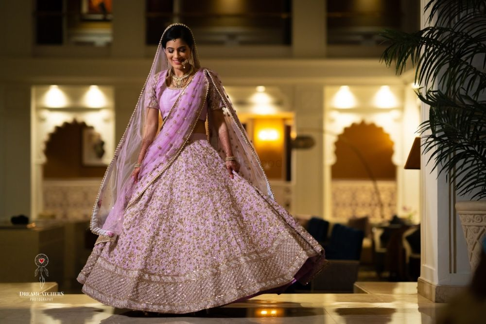 A Dreamy Wedding With The Bride In A Lilac Lehenga