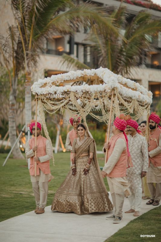 A Stylish Destination Wedding With The Bride In The Most Uniquely Hued Lehenga