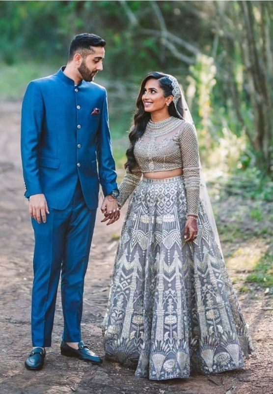 Trendy Brides We Spotted Who Picked Metallic Grey!