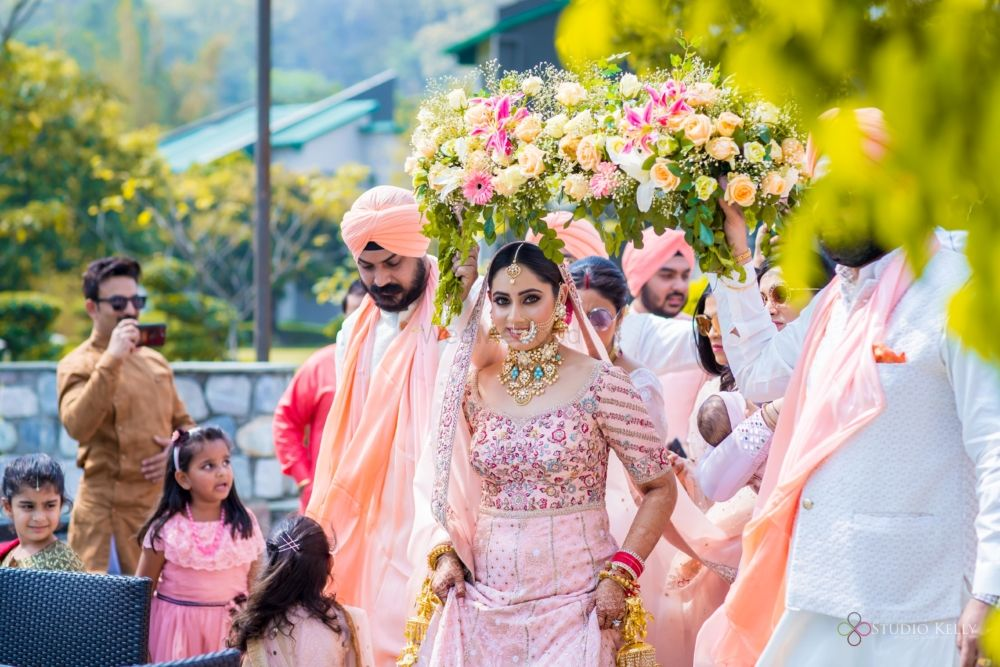 A Gorgeous Corbett Wedding With A Bride In A Blush Pink Lehenga