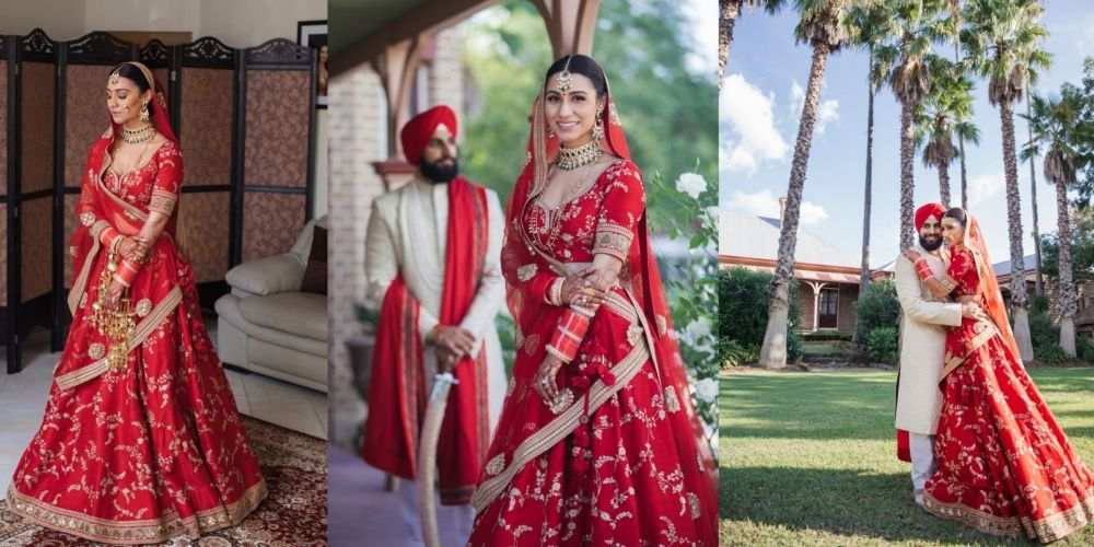 A Beautiful Day Wedding With The Bride In A Ravishing Red Lehenga