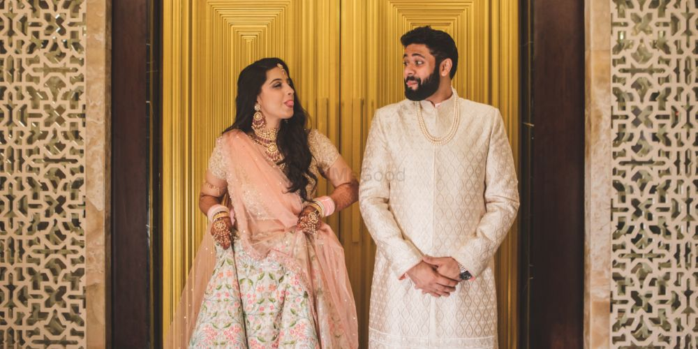 A Pretty Mumbai Wedding With A Couple In Perfectly Coordinate Pastel Outfits