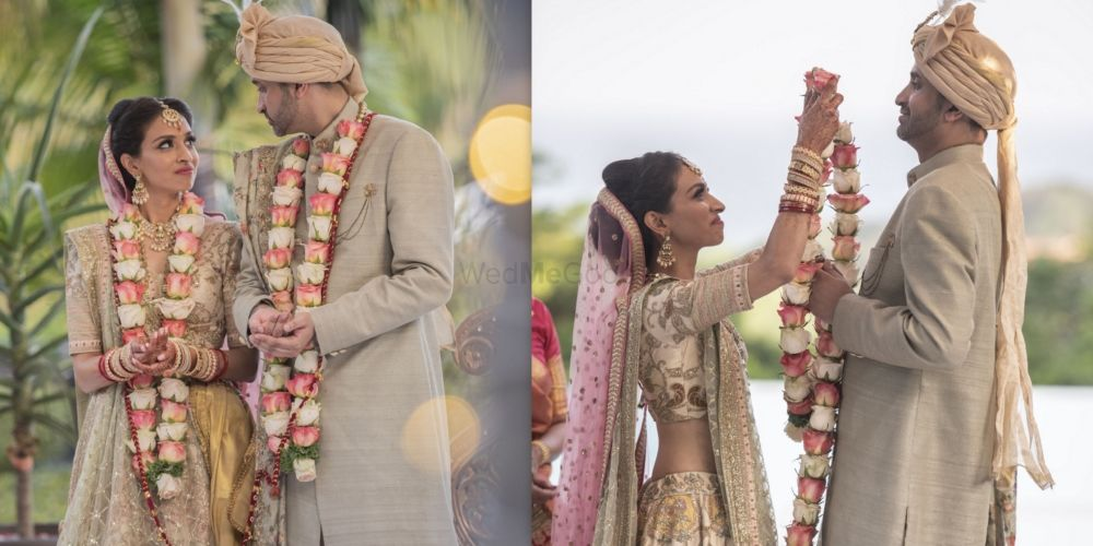 An Intimate Wedding With The Bride In A Glimmering Gold Lehenga