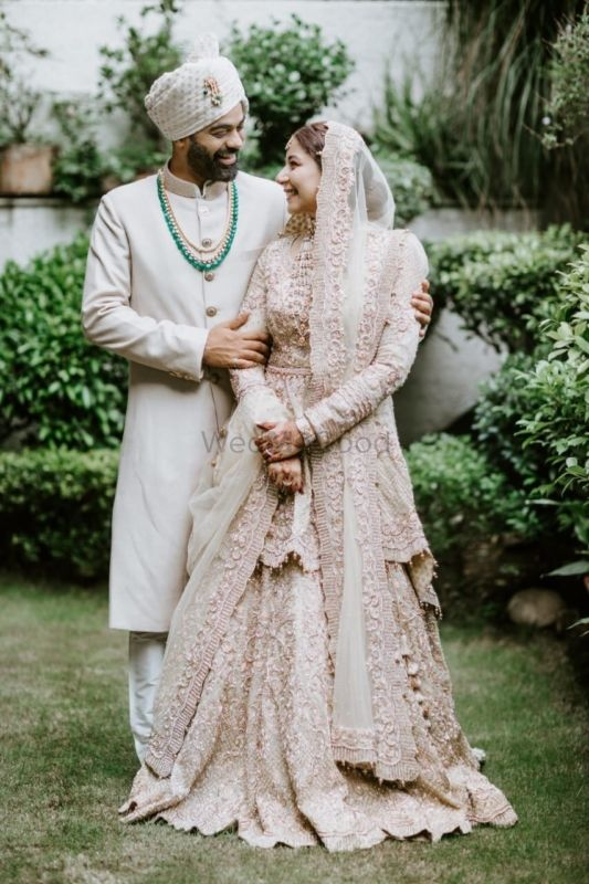 A Royal Delhi Wedding With The Bride In A White Bridal Lehenga