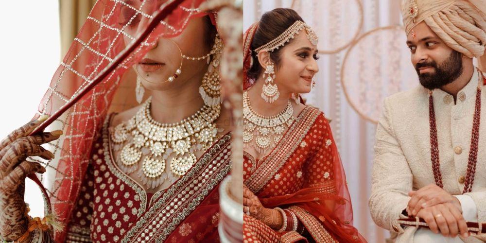 Gorgeous Wedding With Red Bridal Lehenga