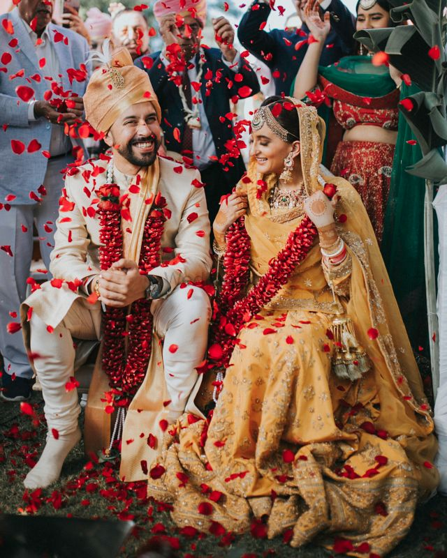 An Intimate Chandigarh Wedding With A Bride In A Beautiful Mango Coloured Lehenga