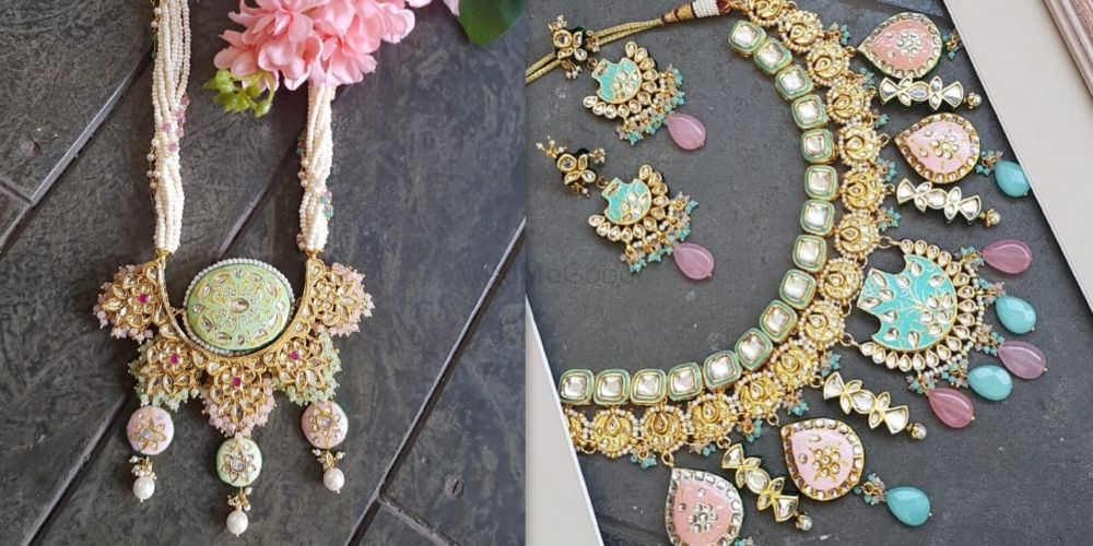 Trending: Pastel Meenakari Necklaces For The New-Age Brides!
