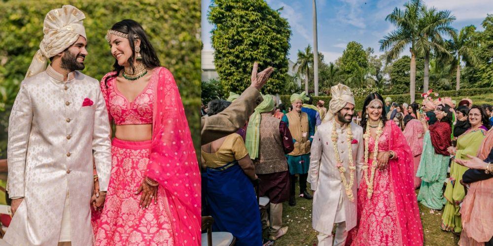 Intimate Delhi Wedding With A Bubblegum Pink Bridal Lehenga