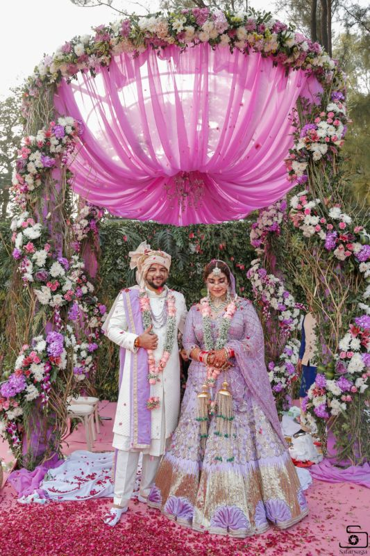 A Lavender Wedding Where The Decor Was Inspired By The Bridal Lehenga