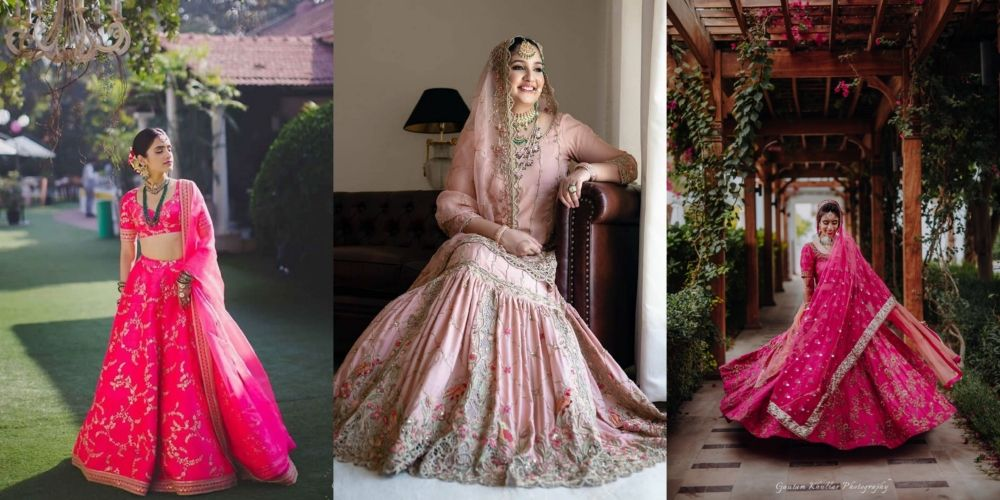25 Different Shades Of Pink We Spotted In Bridal Lehenga!
