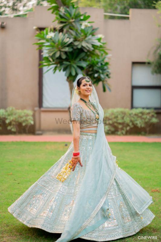 Elegant Manesar Wedding With An Icy Blue Bridal Lehenga