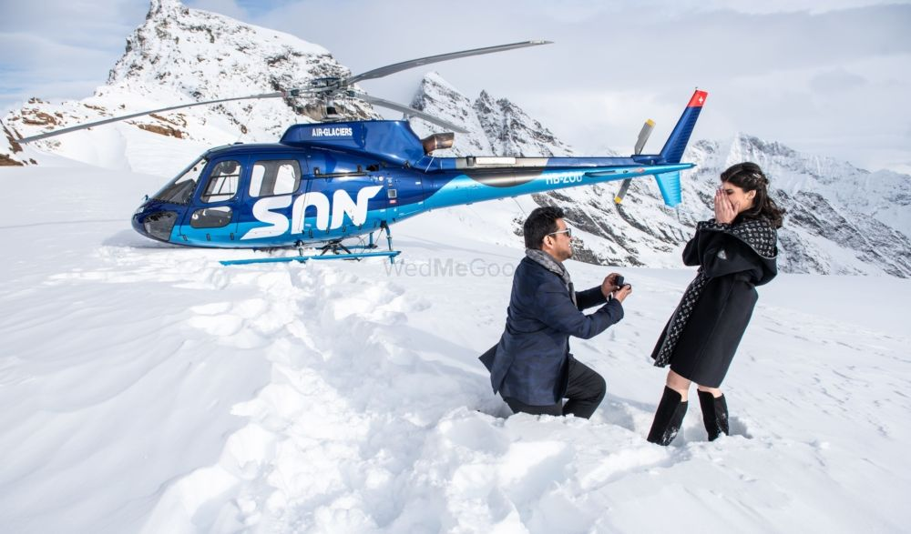 This Guy Planned An Elaborate Proposal On Top Of A Glacier!