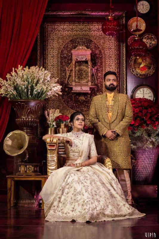 Chennai Engagement With A Customised Kanchipuram & Sabyasachi Inspired Decor