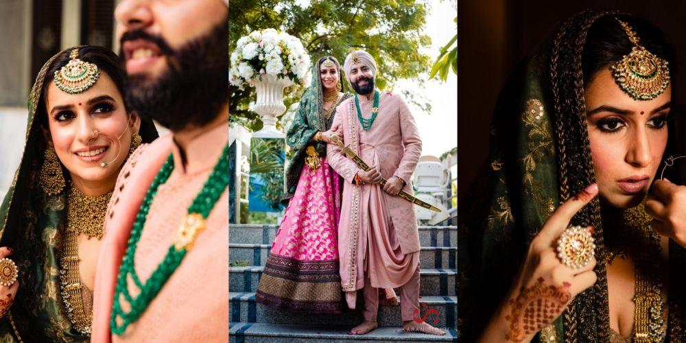 An Intimate Anand Karaj With A Bride In A Beautiful Banarasi Lehenga!