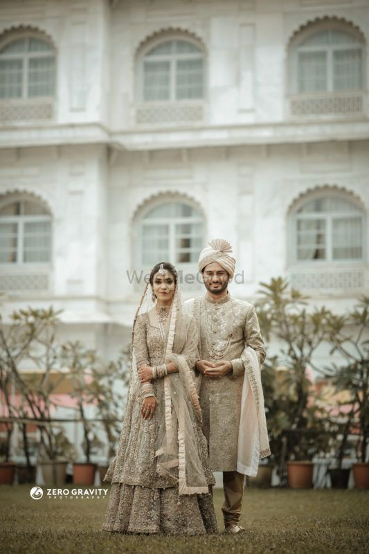 A Pastel Wedding With An Offbeat Bridal Outfit
