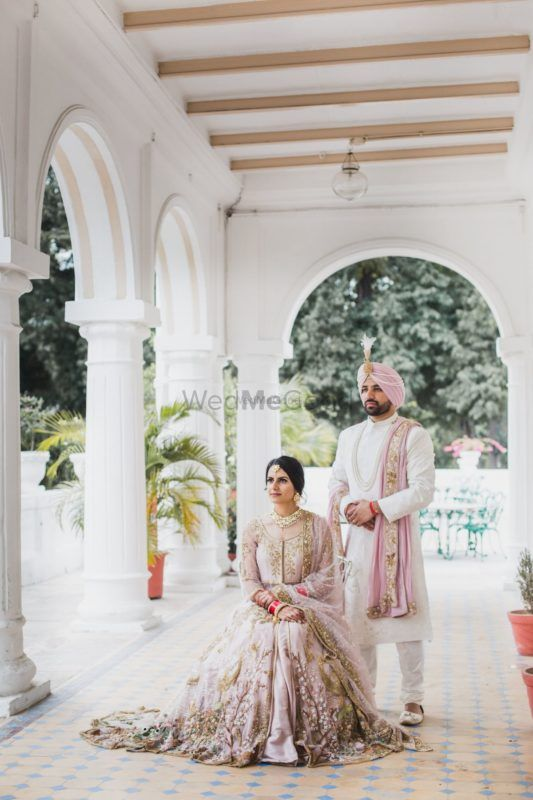 Stunning Patiala Wedding With The Bride & Groom In Shades Of Lilac